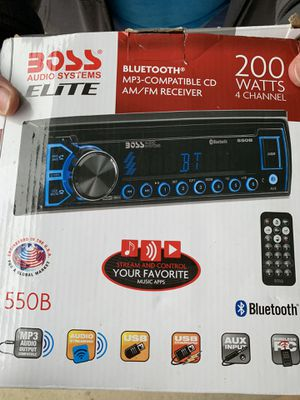 Boss 550B car/truck radio, MP3, CD Bluetooth enabled for Sale in Fairmont, WV