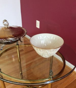 Lennox salad bowl and silver bowl for Sale in Alexandria, VA