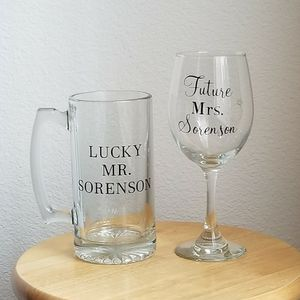 Personalized Wedding Glass for Sale in Las Vegas, NV