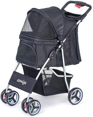 Comiga Pet Stroller, 4-Wheel Cat Stroller, Foldable Dog Stroller for Sale in Ontario, CA