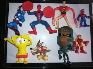 Mini toys. Marvel sponge Bob DC plasticman for Sale in Austin, TX