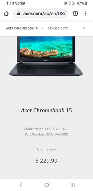 "Acer Chromebook 15"" Notebook for Sale in Phoenix, AZ"