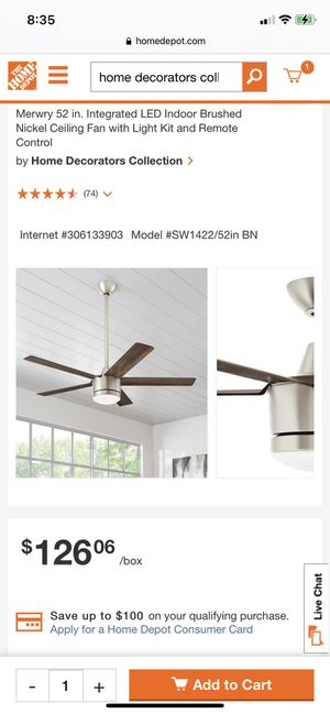 """Home Decorators"" ceiling fan— brand new for Sale in Vancouver, WA"