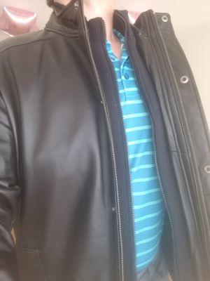 Brand New! Johnson & Murphy Lambskin Genuine Leather Jacket for Sale in Belmont, CA