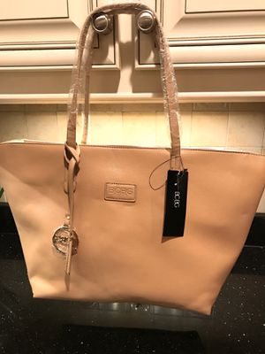 BCBG Vinyl Bag with purse included (which has removable shoulder strap) for Sale in North Reading, MA