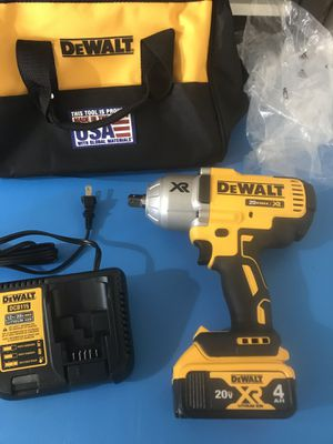 DEWALT 20-Volt Max XR Li-Ion Brushless High Torque 1/2 in. Impact Wrench with Dentent Pin Anvil (4.0 Ah) for Sale in Phoenix, AZ