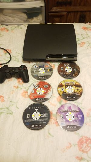 Ps3 with controller and 6 games for Sale in Fall River, MA