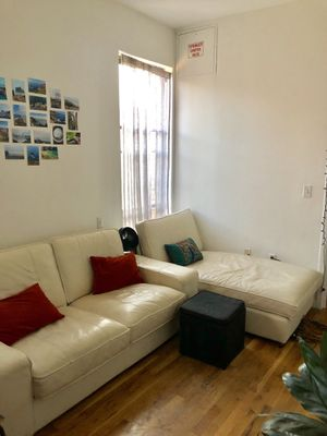 IKEA White Leather Couch and Chaise for Sale in New York, NY