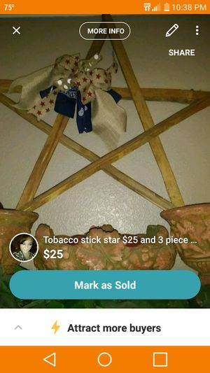 Tobacco stick star for Sale in Pamplin, VA