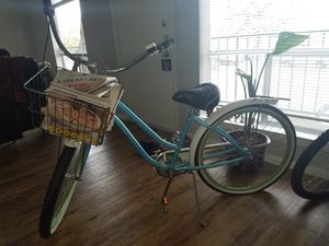Blue and White Cruiser Basket Bike for Sale in Austin, TX