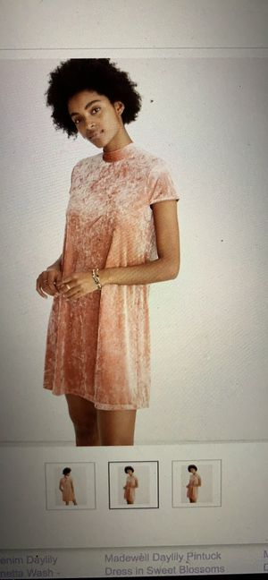 Madewell Pink Velvet Dress Size Small for Sale in Nashville, TN