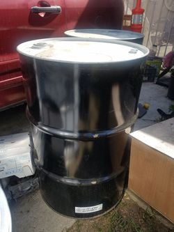 55gallon Metal Barrels for Sale in City of Industry,  CA
