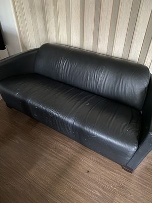 Two identical black couches $50 for both for Sale in West Los Angeles, CA