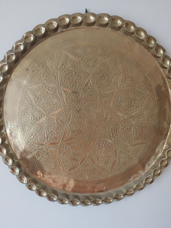 Brass decorative plate