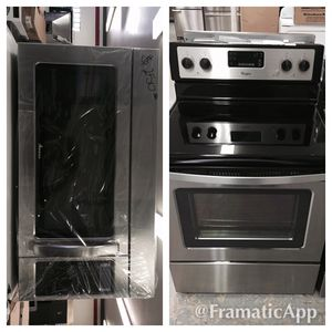Electric stove and microwave package $685 for both new new for Sale in Grand Prairie, TX