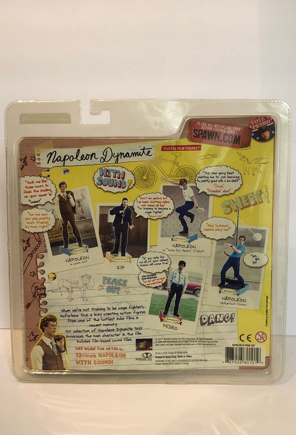 "Napoleon Dynamite Napoleon In Prom Suit 7"" Figure With Sound McFarlane Toys 2005"