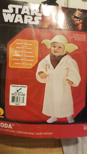 Toddler Yoda costume for Sale in Thomaston, CT