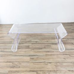 Costway Clear Acrylic Coffee Table with Integrated Magazine Rack (1034593) for Sale in South San Francisco,  CA