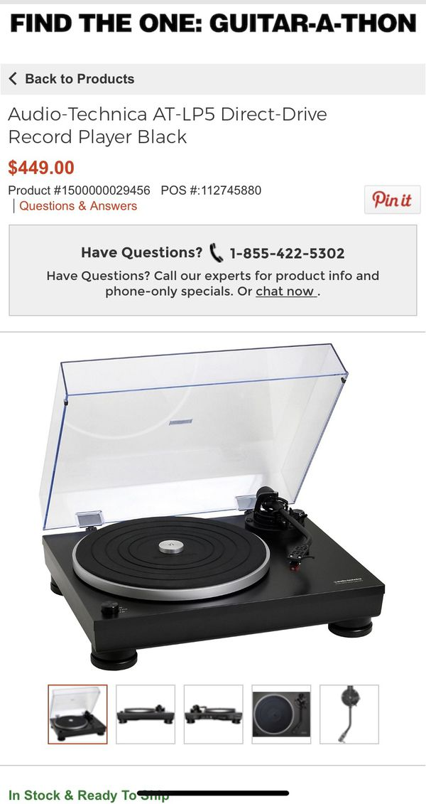 Audio Technica Turntable Record player