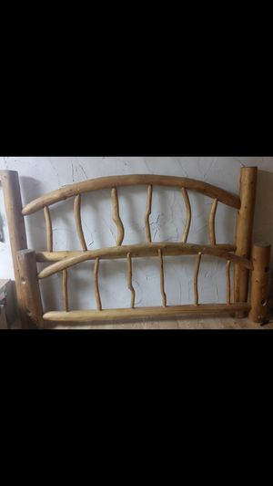 King Pine LOG bed frame for Sale in Aurora, CO