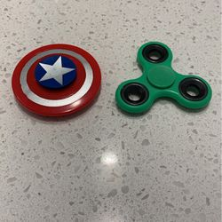 Captain America Fidget Spinner And Green Fidget Spinner for Sale in Los Angeles,  CA