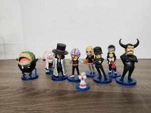 Japanese anime one piece set of 9 figure toy cp9 about 1-3.5 inches each rare for Sale in San Gabriel, CA