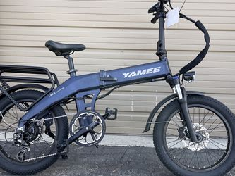 """YAMEE X - 500 Watts """"Self-Charging"""" Fat Tire Folding Aluminum Electric Bike in 3 Colors for Sale in Walnut,  CA"""