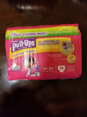 Huggies Pull- ups size 4t-5t -18 training pants for Sale in Germantown, MD