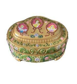 1991 Disney musical 3 princess ballerina snow globe jewelry box for Sale in Smoke Rise, GA