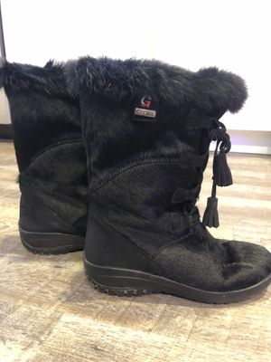 Gartex Genuine Fur Winter Boots - Women's, Black (US 8.5, EU 39) for Sale in Washington, DC