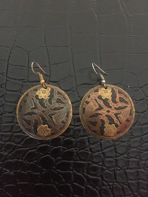 Round Natural Toned Earrings for Sale in Bend, OR