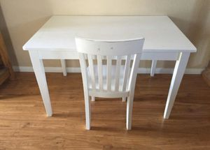 Kids White Desk/ Table and Chair for Sale in Temecula, CA