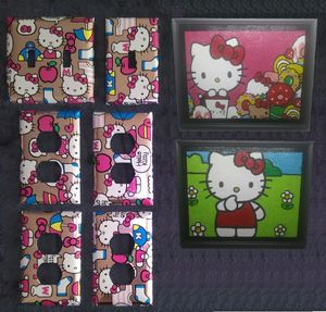 Hello Kitty Girl's Bedroom Wall Decor Set for Sale in Dallas, TX