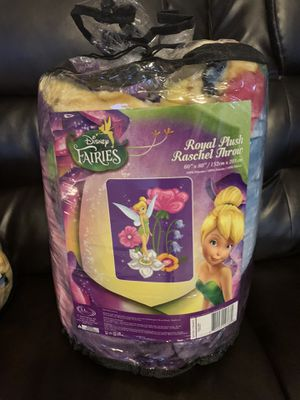 New Disney Tinkerbell Twin sized Blanket Throw for Sale in Compton, CA