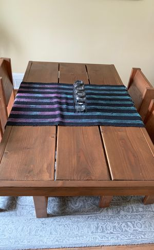 Wooden handmade Dining table with chairs and bench for Sale in Silver Spring, MD
