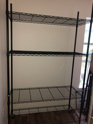 Metal shelving 48 inches wide and 4 feet for Sale in Brooks, OR