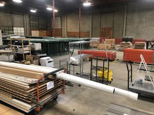 Business liquidation- Racking, carts, Retail Counter., Fork lifts, printers, tons of Great Stuff for Sale in Portland, OR