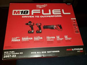 Milwaukee 3 piece combo pack for Sale in Sarasota, FL