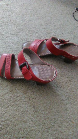 Patrizia red leather sandals. Sz 36 fits 5.5-6.5 brand new for Sale in Las Vegas, NV