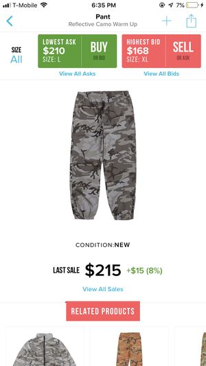 Supreme Snow Camo Track Pant DSIB Size XL for Sale in Westminster, CA