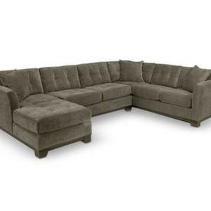 Elliot Fabric Microfiber 3-Piece Chaise Sectional Sofa, Created for Macy's and Elliot Fabric Microfiber Storage Ottoman. No longer available. In color for Sale in Seattle, WA