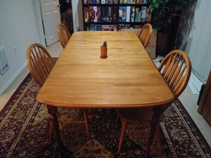 Wooden table and chair set for Sale in Lynnwood, WA
