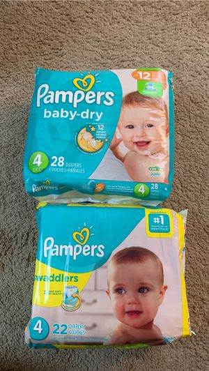 Pampers Diapers Size price if for both packages for Sale in Elk Grove Village, IL
