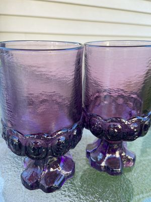 Purple glass set (2) for Sale in Oak Park, MI
