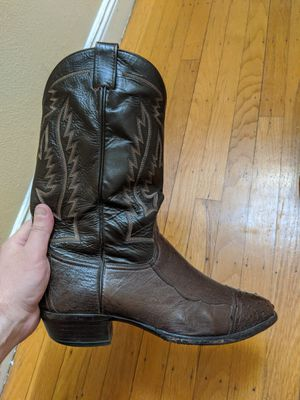 Larry Mahon Ostrich leg and quill cowboy boots 12D for Sale in San Francisco, CA