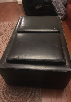 Dark brown leather coffee table for Sale in Washington, DC