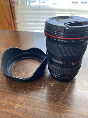 17-40 f4L canon lens for Sale in Wethersfield, CT