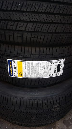 4 new tires 205 55 r16 Goodyear rear $280 for Sale in Chino, CA
