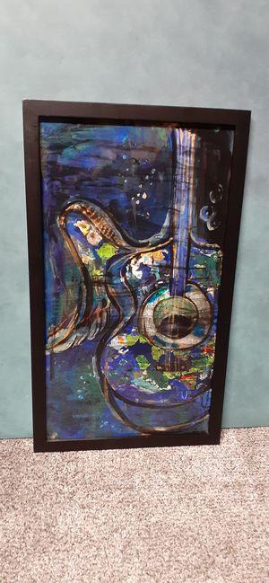 Original multi media guitar art for Sale in Hillsboro, OR