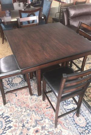 BRAND NEW counter height dining table and 4 chairs for Sale in San Diego, CA
